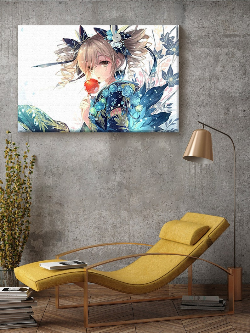 Japanese Girl Canvas Wall Art Anime Character Home Decor Prints