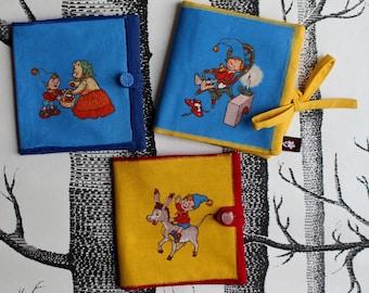 """Pixiebook cover """"Noddy"""", mini-book cover, pixibook collector, book case, handmade by merlanne"""