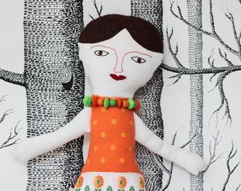"""Ragdoll """"Coco"""", doll, fabricdoll, cloth doll, handmade by merlanne"""