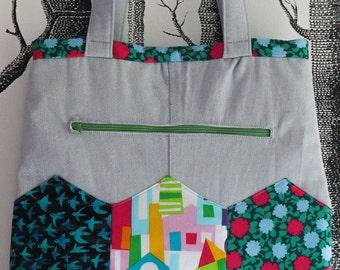 Shopper, hand bag, tote bag, made by merlanne