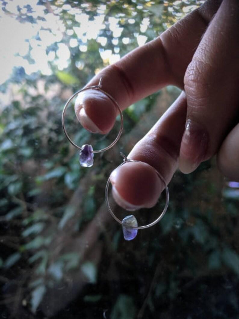 Choice of Gemstone! Pyxis Gemstone Hoop Earrings