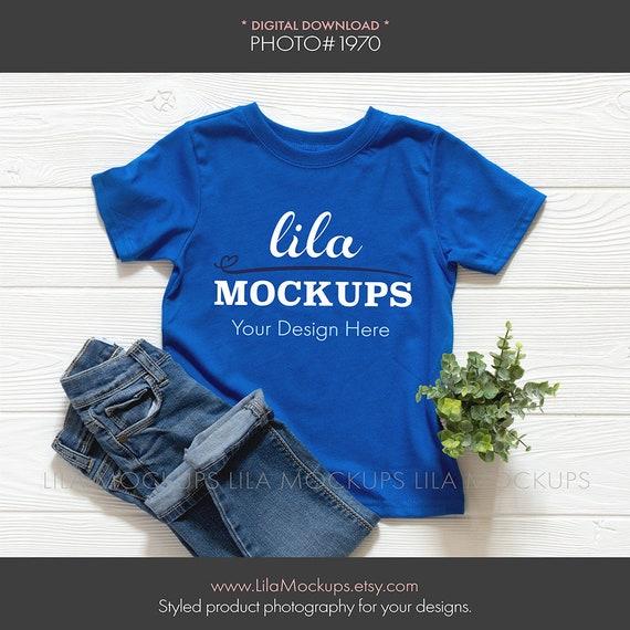 Royal Blue Toddler T Shirt Mockup Photo Boy S Tshirt Etsy
