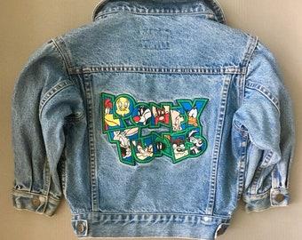 672735155f Vintage 90s Warner Brothers Looney Tunes Denim Jean Jacket Kids Size XS