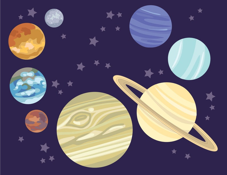 image regarding Printable Solar System Pictures identify Do-it-yourself Printable Sunlight Method 8 planets for your Outer Place Galaxy occasion, generate Celestial Garlands, playing cards, signs or symptoms, video games and further!