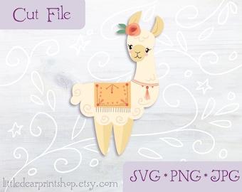 SVG Llama cut file for Cricut, Silhouette, PNG, JPG desert clip art