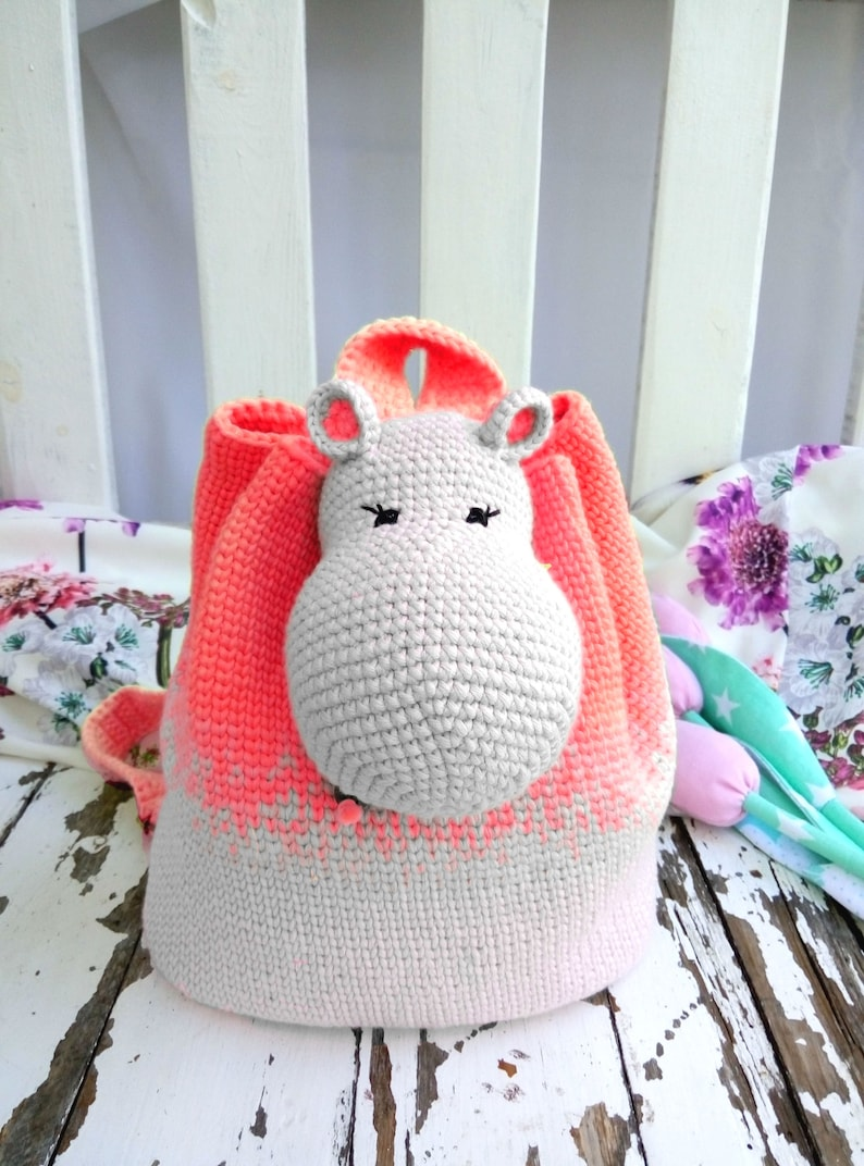 The Hippo backpack Cute and practical accessory for kids.  82baf8eecf41d