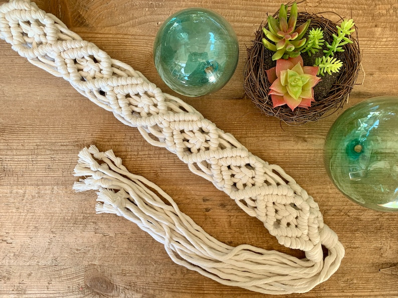 Cotton Belt Macrame Accessory Woven Fringe Boho Macrame Belt Shabby Chic Handmade Women/'s Belt Bohemian Ivory