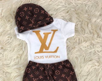 Designer Inspired LV Baby Set with Joggers becd21b1643