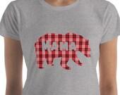 Mama Bear T Shirt, Bear Family T Shirt, Family T Shirts, Buffalo Plaid T Shirt, Bear T Shirt