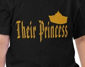 Royal Family Shirt, Their Princess, Crown 1, Black Toddlers T Shirt, Gift Shirt, Girls T Shirt Gift