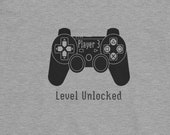 Player 3: Level Unlocked, T Shirt for Boys and Girls