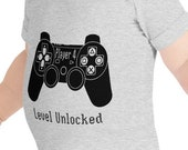 Player 4: Level Unlocked Baby Body Suit for Boys and Girls