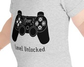 Player 2: Level Unlocked Baby Body Suit for Boys and Girls