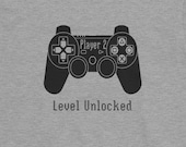 Player 2: Level Unlocked, T Shirt for Boys and Girls