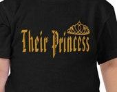 Royal Family Shirt, Their Princess, Crown 2, Toddlers T Shirt in Black, Gift Shirt, Gift Toddler Girls T Shirt, T Shirt in Black