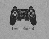 Player 4: Level Unlocked, T Shirt for Boys and Girls
