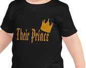 Royal Family Shirt, Their Prince, Crown 2, Black Toddlers T Shirt, Gift Shirt, Gift Boy Toddlers Shirt, Baby Shower Gift