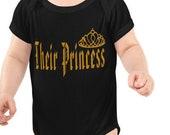 Royal Family Shirt, Their Princess, Crown 2, Baby Girl Body Suit, Gift Shirt, Gift Baby Girl Body Suit