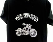 Born to Ride, Motorcycle Enthusiast T Shirt, T Shirt Gift, Birthday Gift, Father's Day Gift, Cotton T Shirt Gift, Black Short Sleeve T Shirt