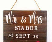 Mr. & Mrs. Wedding Anniversary Gift, Wall Hanging Plaque