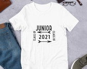 Back to School: Junior Class of 2021, Short Sleeve T Shirt for Men and Women, Class of 2021
