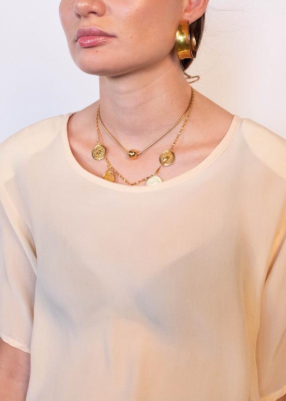 Ivory Boxy Silk Blouse fits sizes S/M/L - image 2