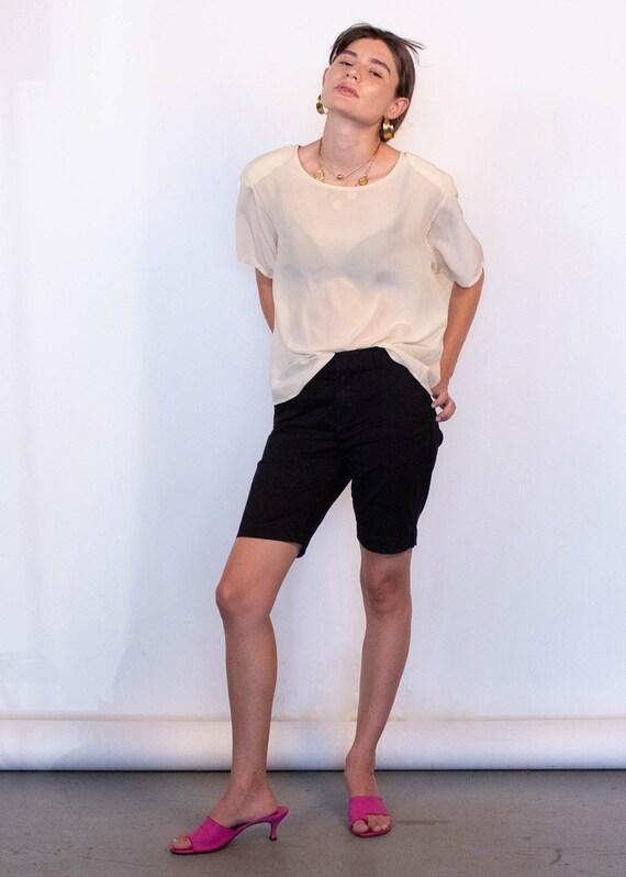 Ivory Boxy Silk Blouse fits sizes S/M/L - image 7