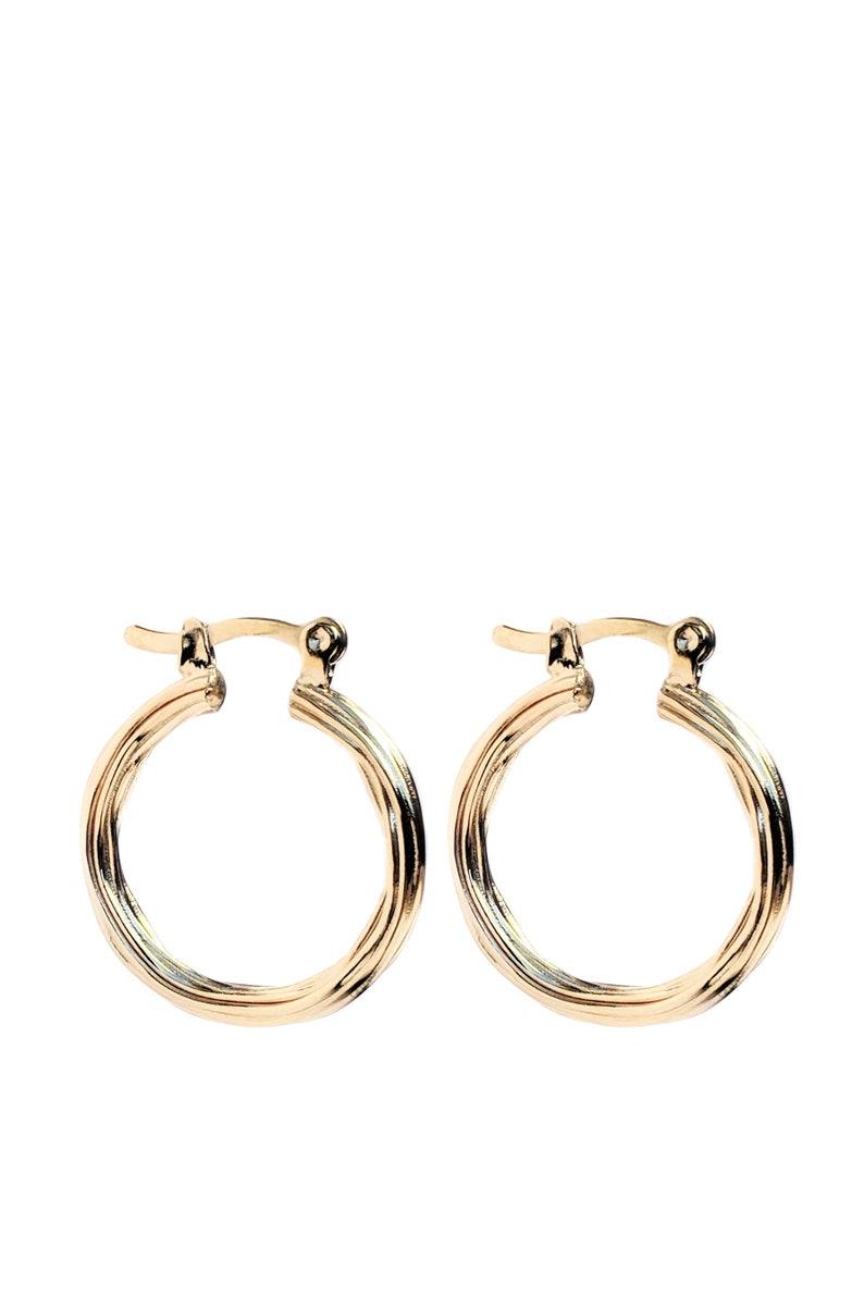 Textured 18K Gold Filled Hoops  Gold Minimal Hoops  Minimal Jewellery  Tarnish Resistant  Vintage jewellery  Basic Gold Hoops