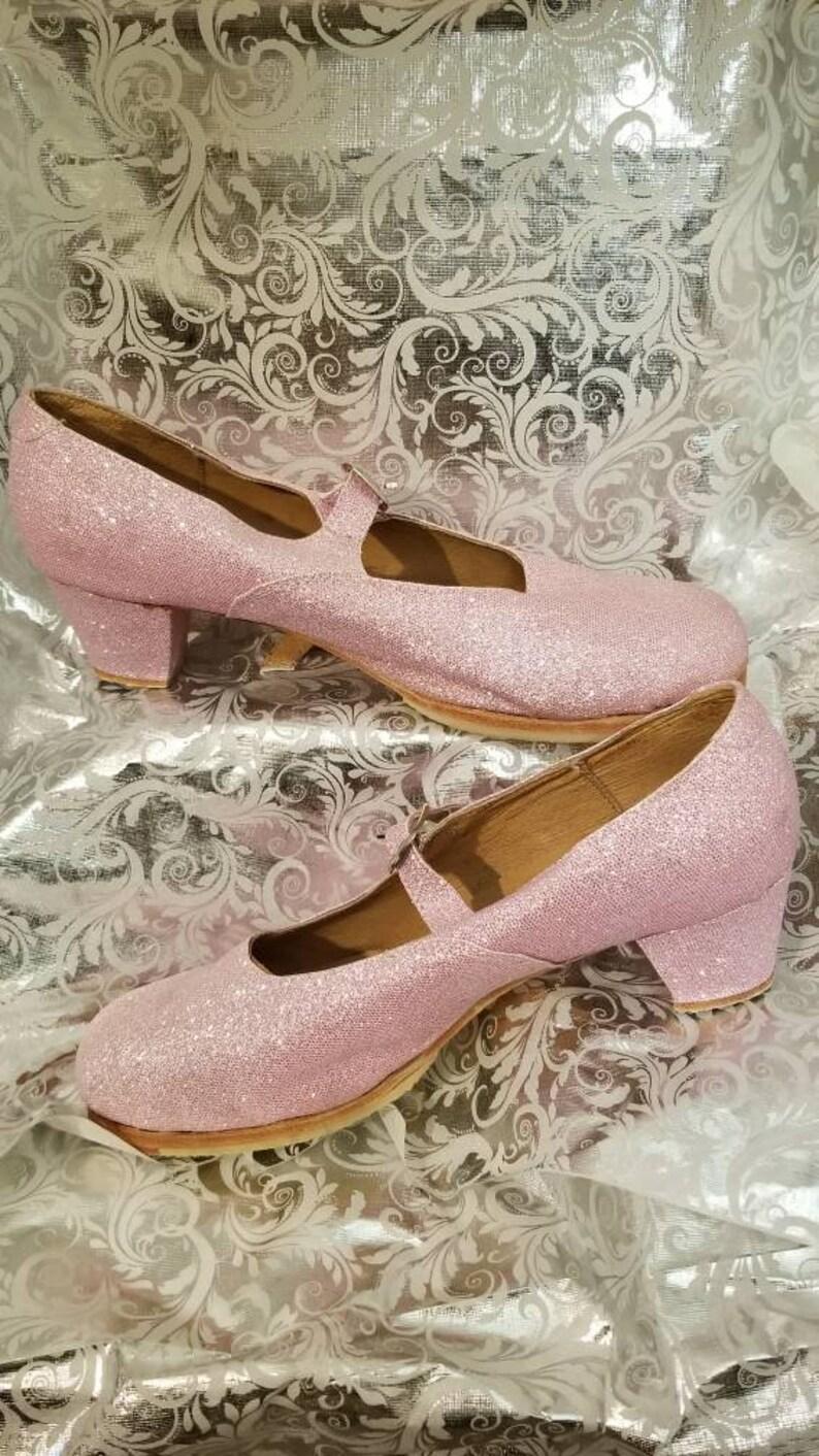 95134be5fc58 Ballet Folklorico Dancing Shoes Light Pink Glitter