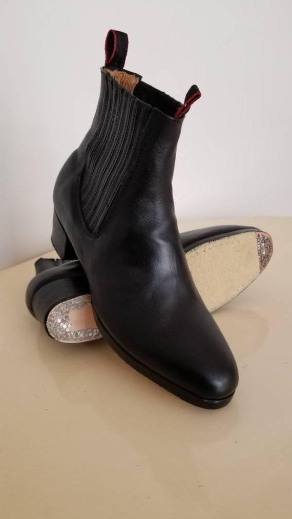 Botines de Folklor Leather Folklorico Dance Boots For Kids /& Men
