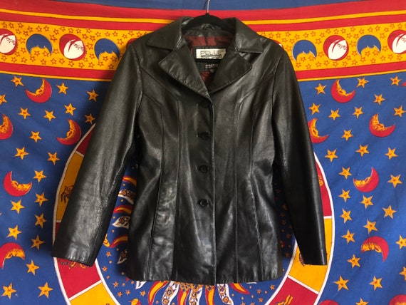 80s/90s Black Leather Jacket