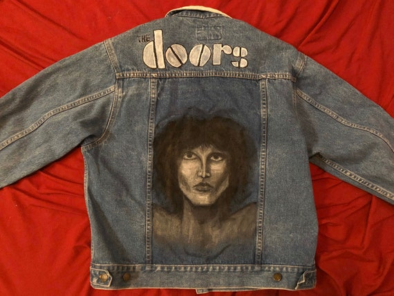 The Doors Jim Morrison Hand Painted Denim Vintage