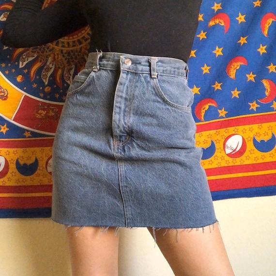 80s Denim Mini Skirt