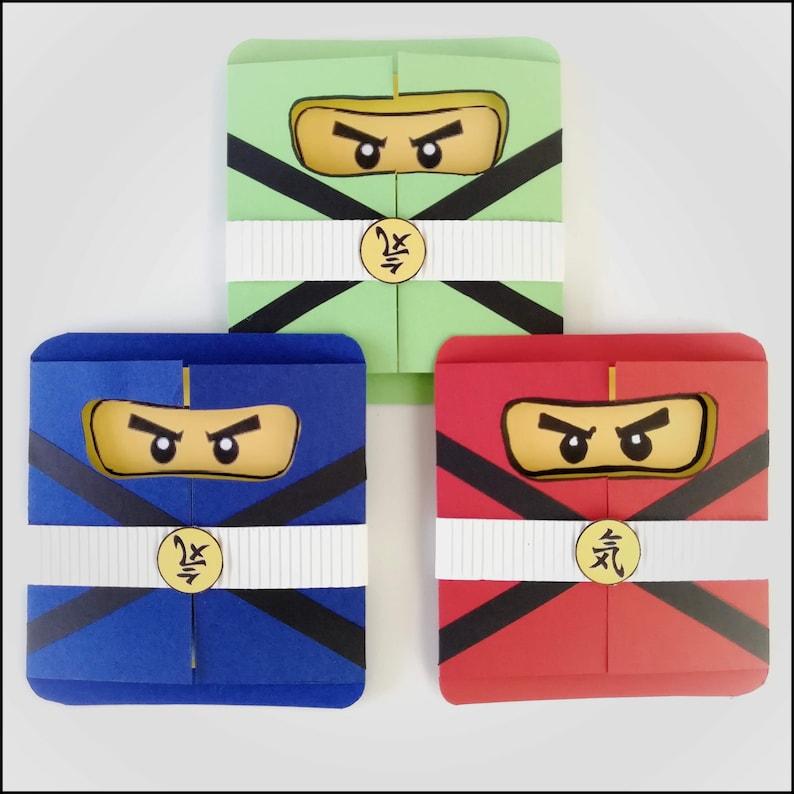 Einladungskarte Ninjago für Kindergeburtstag image 0