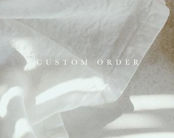 Custom order / x2 hand towels set