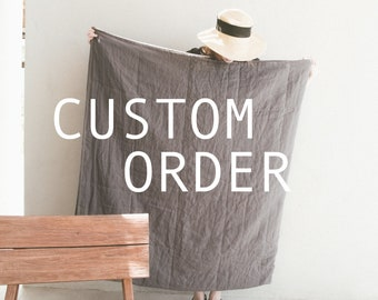 Custom order / Linen bedding / pillowcases + duvet covers and fitted sheets
