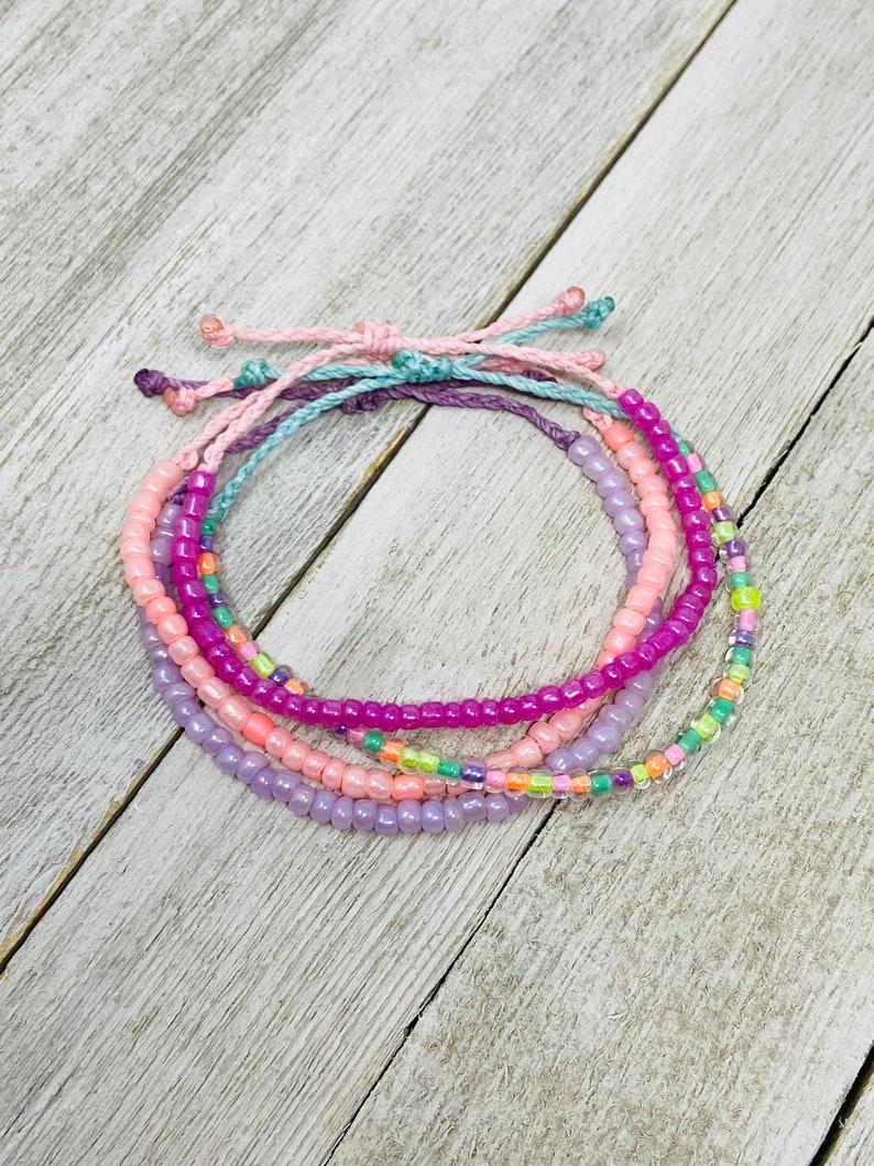 Pastel Bracelets Choose Your Color Waterproof Bracelet Beaded Bracelet Adjustable Bracelet