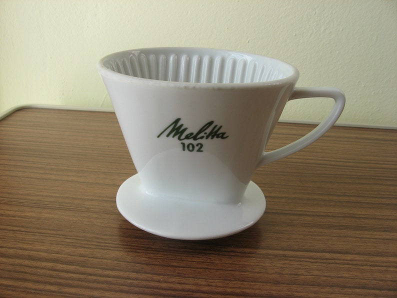 Vintage Melitta Porcelain Coffee Dripper 102 Coffee Filter Etsy