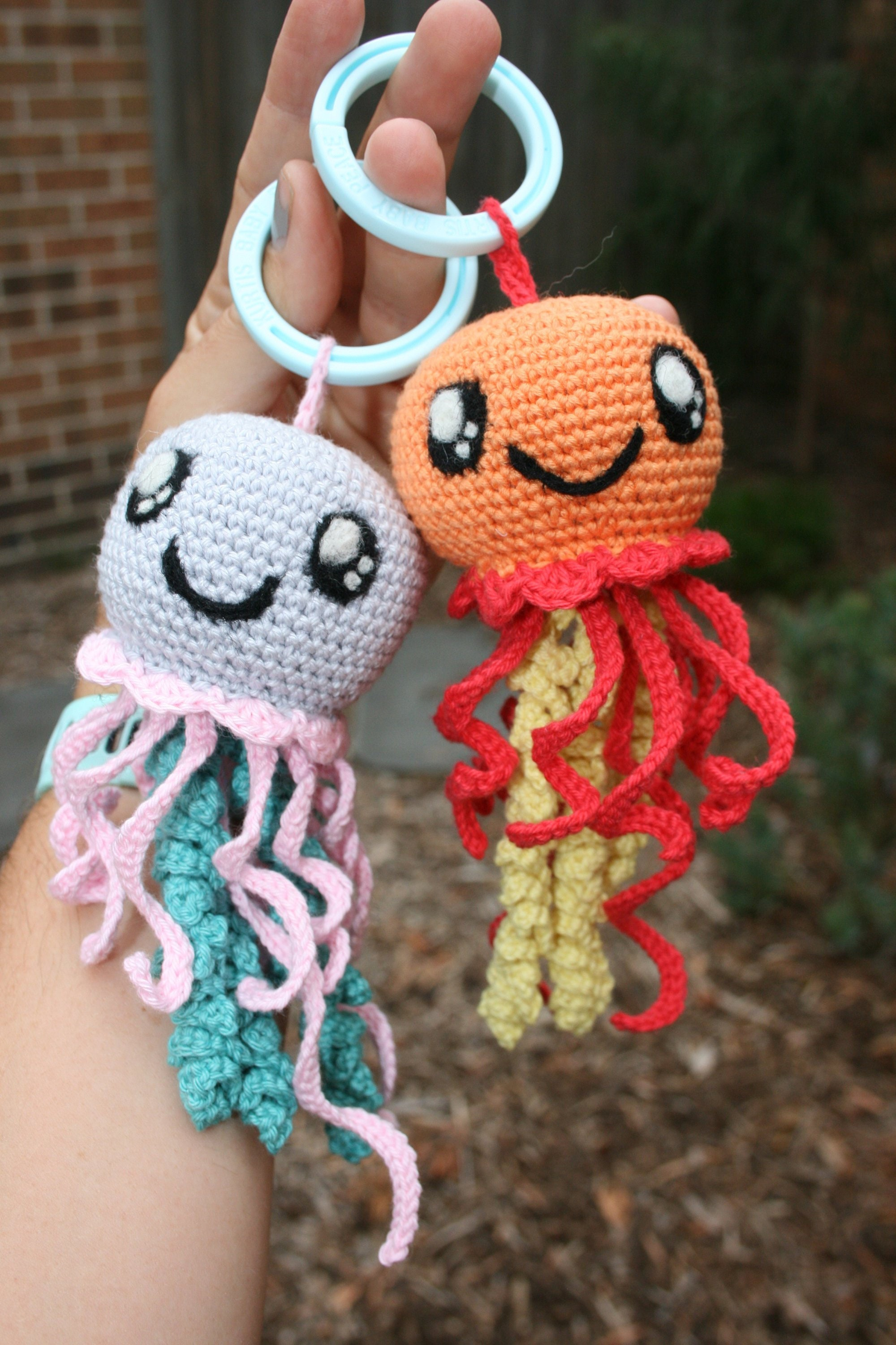 Toy Room Decor Mobile Baby Toddler Crocheted Jellyfish Free Shipping