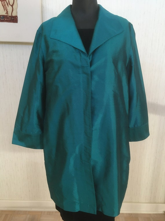 Tesori Teal Shirt - 1990's