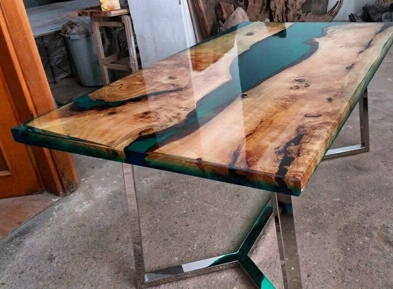 Epoxy Table Wood Table Epoxy Wood Table Walnut Table | Etsy