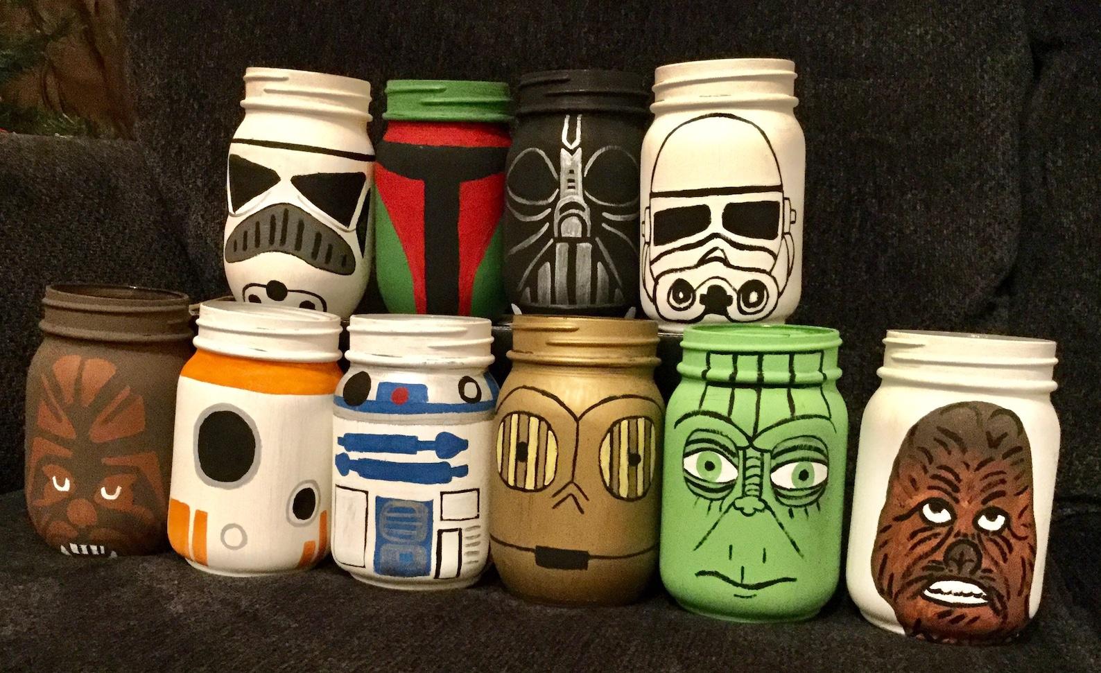 Star Wars Mason Jar Centerpieces