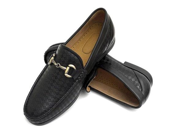 Easy Strider Men's Slip On Loafer Shoes Premium Design Material Leather...