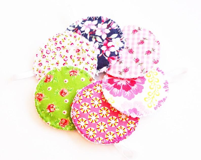 Make-up pads reusable set of 6 Romantisch-blumig