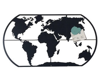 Magnetic world map etsy world map made in the uk for indoor outdoor use gumiabroncs Gallery