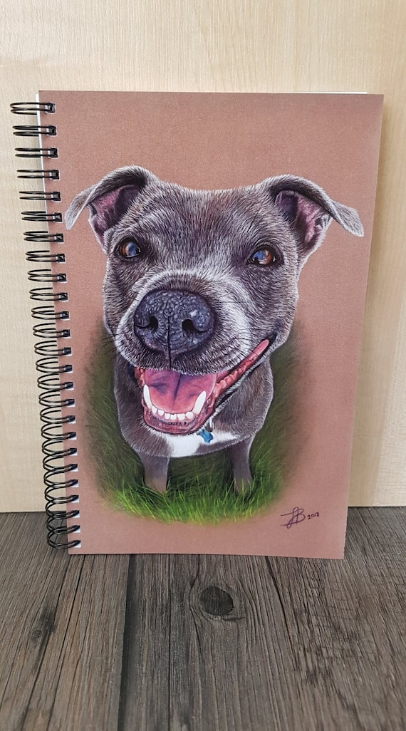 Staffordshire Bull Terrier  Notepad /& Pencil Gift Set
