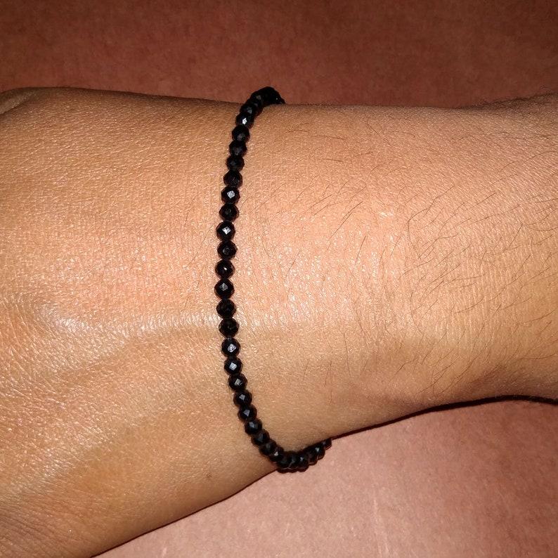 Handmade Bracelet Jewellery Beaded Bracelet Gift For Her Black Onyx Bracelet Onyx Bracelet Mother Gift Idea Pure Silver Bracelet