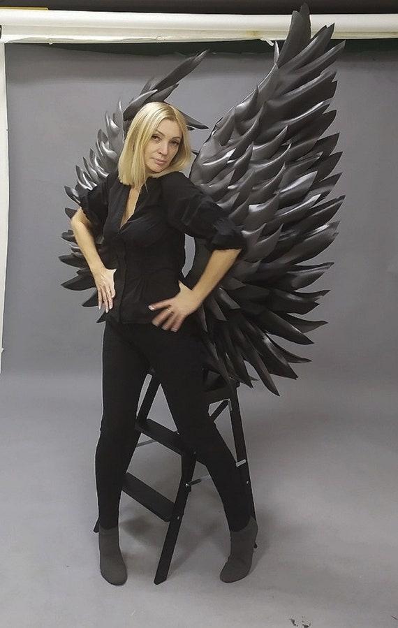 Erwachsene Kinder Feder Flügel Engel Fee Kostüm Halloween Cosplay Prop Dekor DE