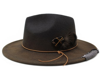 1aa128b9c8aa6 Grey Fedora Hat- One Size fits all- Mens and Womens Fedora