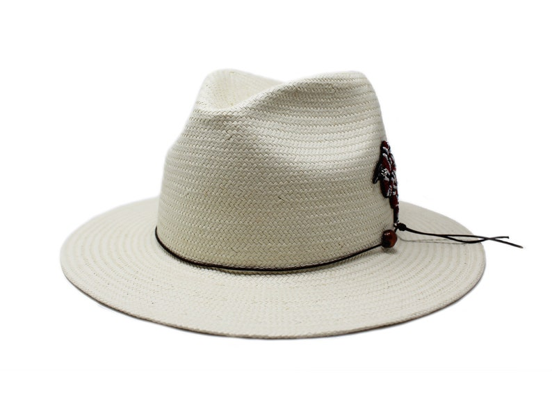 Mens and Womens Straw Fedora Panama Hat One Size fits all